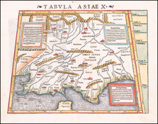 India and Central Asia & Caucasus Map By Sebastian Münster