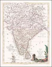 India & Sri Lanka Map By Antonio Zatta