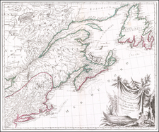 New England, Canada and Eastern Canada Map By Paolo Santini