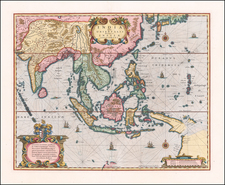 Southeast Asia Map By Henricus Hondius / Jan Jansson