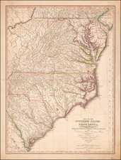 Maryland, Delaware, Southeast, Virginia, North Carolina and South Carolina Map By William Faden