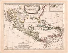 Southeast, Texas, Mexico and Caribbean Map By Didier Robert de Vaugondy