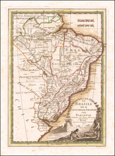 Brazil and Paraguay & Bolivia Map By Giovanni Maria Cassini