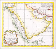 Middle East and Arabian Peninsula Map By Jacques Nicolas Bellin