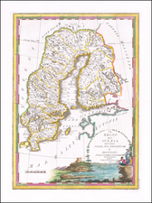 Sweden and Finland Map By Giovanni Maria Cassini