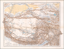 India and Central Asia & Caucasus Map By Royal Geographical Society