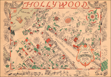 California and Los Angeles Map By Harold W Grieve