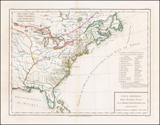 United States Map By Pierre Antoine Tardieu