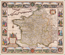 France Map By Nicolaes Visscher I