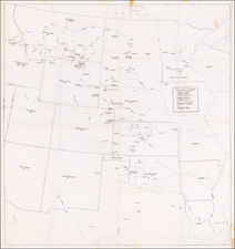 Texas, Plains, Kansas, Nebraska, North Dakota, South Dakota, Oklahoma & Indian Territory, Rocky Mountains, Montana and Wyoming Map By Anonymous