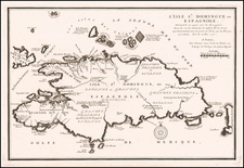 Hispaniola Map By Nicolas de Fer