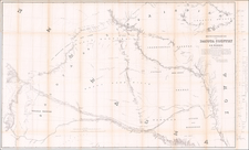 Plains, Iowa, Nebraska, North Dakota, South Dakota, Colorado, Rocky Mountains, Colorado and Wyoming Map By G.K. Warren