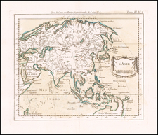Asia Map By Jacques Nicolas Bellin