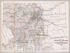 Rocky Mountains, Colorado and Rare Books Map By Major & Knapp