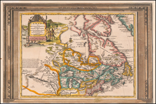 Midwest and Canada Map By Pieter van der Aa