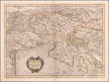 Croatia & Slovenia and Northern Italy Map By Gerhard Mercator
