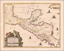 Mexico and Central America Map By Pierre Mortier