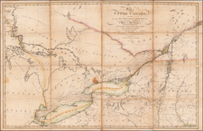 Vermont, New York State, Pennsylvania, Michigan and Canada Map By Prior & Dunning