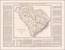 South Carolina Map By Carl Ferdinand Weiland
