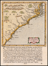 Southeast, North Carolina and South Carolina Map By Robert Morden