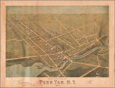 New York State Map By O.H. Bailey