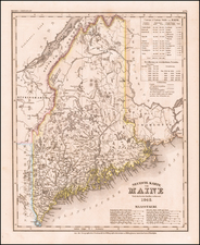 Maine Map By Joseph Meyer
