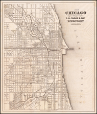 Chicago Map By D.B. Cooke & Co.