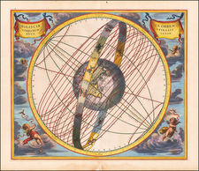 Eastern Hemisphere and Celestial Maps Map By Andreas Cellarius