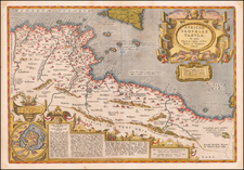 Africae Propriae Tabula In qua, Punica regna uides; Tyrios, et Agenoris urbem … 1590 [shows Malta] By Abraham Ortelius