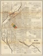 Colorado and Colorado Map By Denver Litho Co.