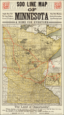 Minnesota Map By Poole Brothers