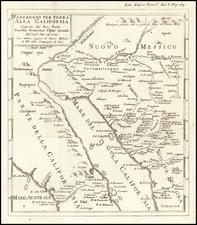 Southwest, Arizona, Mexico, Baja California and California Map By Fr. Eusebio Kino