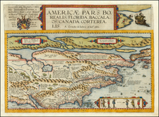 United States and North America Map By Cornelis de Jode