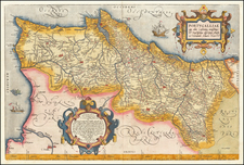 Portugal Map By Abraham Ortelius