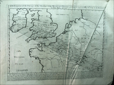 British Isles, France and Celestial Maps Map By John Senex