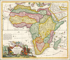 Africa Map By Johann Baptist Homann
