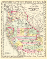 Southwest, Arizona, Utah, Nevada, New Mexico, Idaho, Montana, Utah, Wyoming, Pacific Northwest, Oregon, Washington and California Map By Charles Desilver