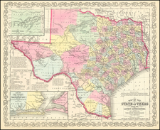 Texas Map By Charles Desilver