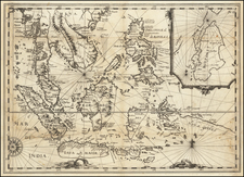 Southeast Asia, Philippines, Indonesia, Malaysia and Thailand, Cambodia, Vietnam Map By Joris van Spilbergen