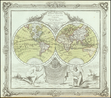 World Map By Louis Brion de la Tour