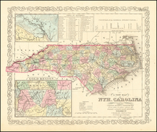 North Carolina Map By Charles Desilver