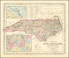 North Carolina Map By Charles Desilver