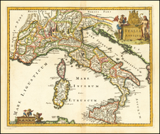 Italy Map By Philipp Clüver