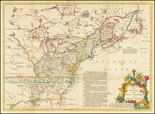 A Map of the British and French Settlements in North America  By Gentleman's Magazine
