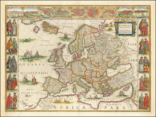 Europe Map By Willem Janszoon Blaeu
