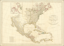 United States and North America Map By J. Harrison
