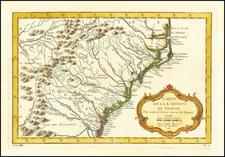 Southeast, Georgia, North Carolina and South Carolina Map By Jacques Nicolas Bellin