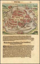 Mexico Map By Theodor De Bry / Matthaus Merian