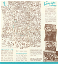 Arizona and Pictorial Maps Map By Hague  &  Phoenix Chamber of Commerce