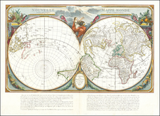 World, Northern Hemisphere and Southern Hemisphere Map By Paolo Santini